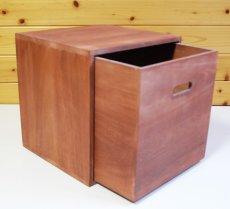 画像4: 【カラーキューブボックス:引き出しセット】収納ボックス 木製 オープン マルチラック キューブラック シェルフ 本棚 書棚 CDラック (4)