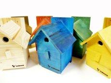 【野鳥用巣箱】 バードハウスA(前扉タイプ)ナチュラルカラー(完成品) お庭でバードウォッチング!
