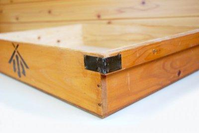 画像1: (アンティーク品:中古)数量限定 中古の仕出箱Aタイプ(5年使用) 収納にガーデニングに!(料亭/割烹/会席用)