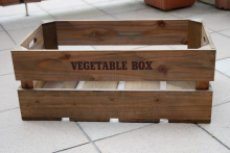 画像4: 【ベジタブルボックス:Lサイズ】丈夫でオシャレなベジタブル木箱 アンティーク調 キッチン収納、ガーデニングなどに大人気! (4)