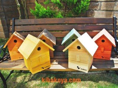 画像3: 【野鳥用巣箱:取り付け型】カラーバードハウスA (前扉タイプ)(完成品) お庭でバードウォッチング!