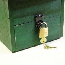 画像8: 【意見箱:巣箱型】鍵付き(提案箱/投票箱/投書箱/アンケートボックス/募金箱/義援金箱) (8)