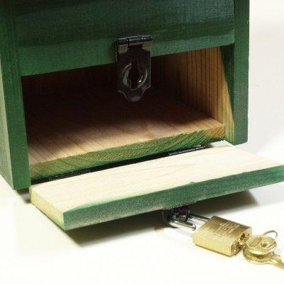 画像2: 【意見箱:巣箱型】鍵付き(提案箱/投票箱/投書箱/アンケートボックス/募金箱/義援金箱)