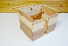 画像7: 【新聞ストッカー】新聞収納木箱・ラック(新聞整理収納箱) (7)