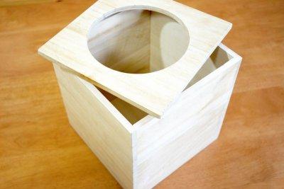 画像1: 【桐製 ごみ箱(ダストボックス)】高級素材の桐からつくった素敵なダストボックス天然木 杉 ウッド  ダストボックス  和室 和風 完成品 日本製 おしゃれ