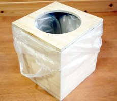 画像6: 【桐製 ごみ箱(ダストボックス)】高級素材の桐からつくった素敵なダストボックス天然木 杉 ウッド  ダストボックス  和室 和風 完成品 日本製 おしゃれ (6)