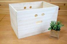 画像6: 【にこにこボックス収納箱】桐製 手穴つきボックス収納箱 木製シェルフ ストレージボックス おしゃれな木の雑貨 (6)