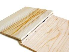 画像3: 【木製メニューブック】 綴じ紐タイプ(A4,B5縦型):杉板(無色)仕様 (3)