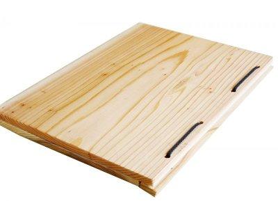 画像3: 【木製メニューブック】 綴じ紐タイプ(A4,B5縦型):杉板(無色)仕様