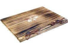 画像2: 【木製メニューブック】綴じ紐タイプ(A4,B5縦型):焼桐仕様 (2)