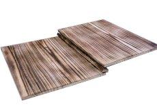 画像4: 【木製メニューブック】綴じ紐タイプ(A4,B5縦型):焼桐仕様 (4)