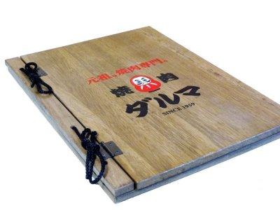 画像1: 【木製メニューブック】綴じ紐タイプ(A4,B5縦型):桐カラー仕様