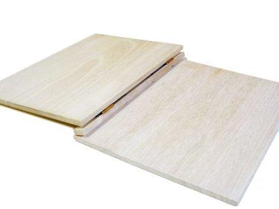 画像2: 【木製メニューブック】 綴じ紐タイプ(A4,B5縦型):桐仕様 色:透明(クリア仕上げ)