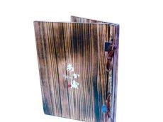 画像5: 【木製メニューブック】綴じ紐タイプ(A4,B5縦型):焼桐仕様 (5)