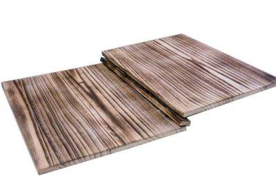 画像2: 【木製メニューブック】綴じ紐タイプ(A4,B5縦型):焼桐仕様
