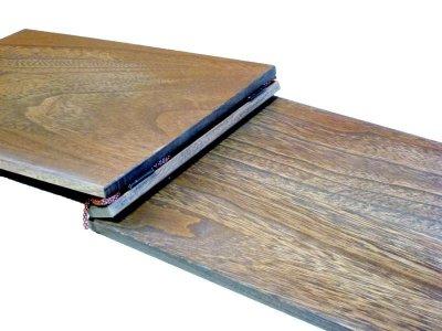 画像2: 【木製メニューブック】 綴じ紐タイプ(A4,B5横型):桐仕様(オーク塗装)