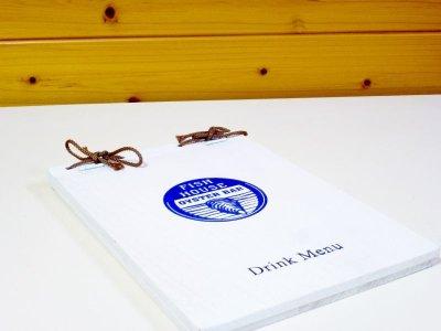 画像3: 【木製メニューブック】 綴じ紐タイプ(A4,B5横型):桐仕様(白色塗装)