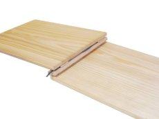 画像5: 【木製メニューブック】 綴じ紐タイプ(A4,B5横型):杉仕様(透明塗装) (5)