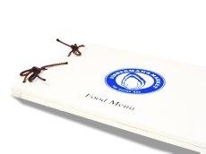 画像3: 【木製メニューブック】 綴じ紐タイプ(A4,B5横型):桐仕様(白色塗装) (3)