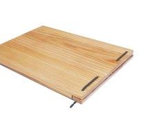 画像6: 【木製メニューブック】 綴じ紐タイプ(A4,B5横型):杉仕様(透明塗装) (6)