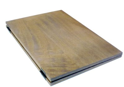 画像1: 【木製メニューブック】ちょう番見開きタイプ(A4,B5縦型):桐カラー仕様