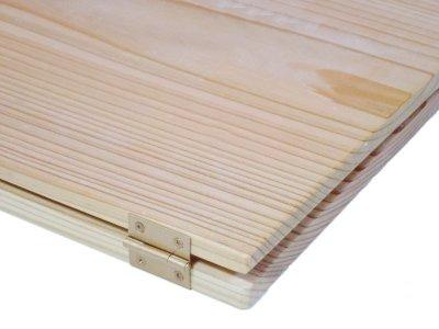 画像3: 【木製メニューブック】ちょう番見開きタイプ(A4,B5縦型):杉板仕様