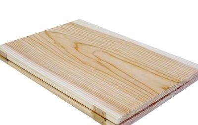 画像2: 【木製メニューブック】ちょう番見開きタイプ(A4,B5縦型):杉板仕様