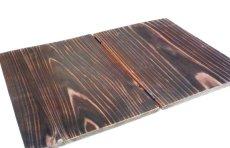 画像3: 【木製メニューブック】ちょう番見開きタイプ(A4,B5縦型):焼杉仕様 (3)