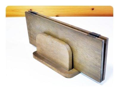 画像3: 【木製メニューブック】桐材仕様 木製メニューブック立て(スタンド) 色選択