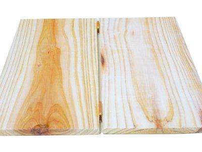 画像2: 【木製メニューブック】ちょう番見開き 縦長規定サイズ:杉仕様(透明)