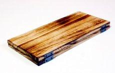 画像4: 【木製メニューブック】ちょう番見開き 縦長規定サイズ:焼桐仕様 (4)