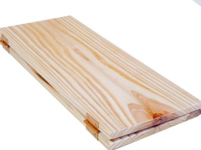 画像1: 【木製メニューブック】ちょう番見開き 縦長規定サイズ:杉仕様(透明)
