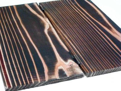 画像2: 【木製メニューブック】ちょう番見開き 縦長規定サイズ:焼杉仕様