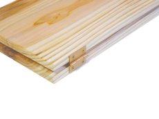 画像5: 【木製メニューブック】ちょう番見開き 縦長規定サイズ:杉仕様(透明) (5)