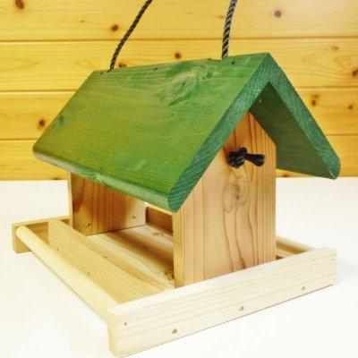 画像2: 【野鳥用餌台(バードフィーダー)】緑屋根がかわいい♪ バードフィーダーデラックス(完成品)