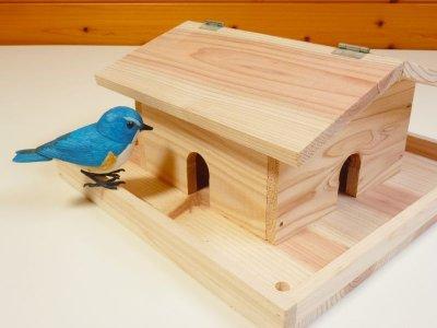 画像2: 【野鳥用餌台(バードフィーダー)】おうち型バードフィーダー(完成品)