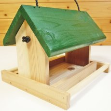 画像4: 【野鳥用餌台(バードフィーダー)】緑屋根がかわいい♪ バードフィーダーデラックス(完成品) (4)