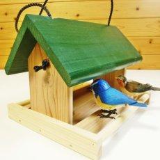 画像7: 【野鳥用餌台(バードフィーダー)】緑屋根がかわいい♪ バードフィーダーデラックス(完成品) (7)