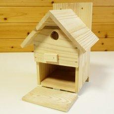 画像10: 【野鳥用巣箱】バードハウスA(前扉タイプ)巣箱(完成品 無塗装) (10)
