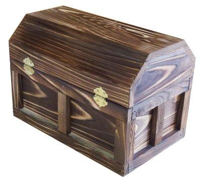 画像2: 【海賊宝箱】シンプル海賊箱(中サイズ フック金具) ロゴ、三方飾り金具なし