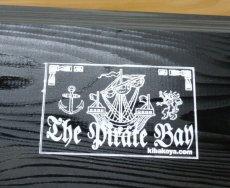 画像5: 【海賊宝箱】シンプル海賊箱(大)ブラック塗装 ロゴあり、三方金具なし (5)
