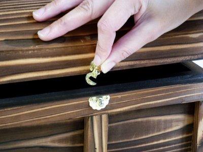 画像3: 【海賊宝箱】シンプル海賊箱(中サイズ フック金具) ロゴ、三方飾り金具なし
