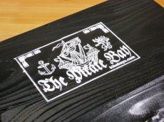 画像8: 【海賊宝箱】シンプル海賊箱(大)ブラック塗装 ロゴあり、三方金具なし (8)