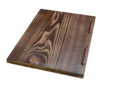 画像4: 【木製メニューブック】 綴じ紐窓穴タイプ(A4縦型):焼杉仕様 (4)
