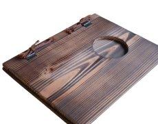 画像5: 【木製メニューブック】 綴じ紐窓穴タイプ(A4縦型):焼杉仕様 (5)