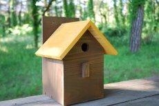 画像15: 【野鳥用巣箱:取り付け型】2色カラフルバードハウスA (前扉タイプ)(完成品) お庭でバードウォッチング! (15)