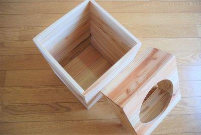 画像1: 【杉製 ごみ箱(ダストボックス)】天然杉からつくったぬくもり感じるゴミ箱