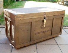 画像7: 【宅配ボックス】ビンテージ感たっぷりおしゃれな木製宅配BOX(宅急便収納箱・受け) (7)