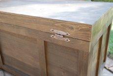 画像11: 【宅配ボックス】ビンテージ感たっぷりおしゃれな木製宅配BOX(宅急便収納箱・受け) (11)