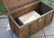 画像6: 【宅配ボックス】ビンテージ感たっぷりおしゃれな木製宅配BOX(宅急便収納箱・受け) (6)